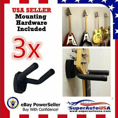 3-PACK Guitar Hanger Hook Holder Wall Mount Display Acoustic Electric US Stock