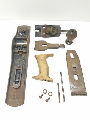 PARTS ONLY!! Antique Stanley Bailey No.5 Corrugated Bottom Plane,4-19-10 VTG