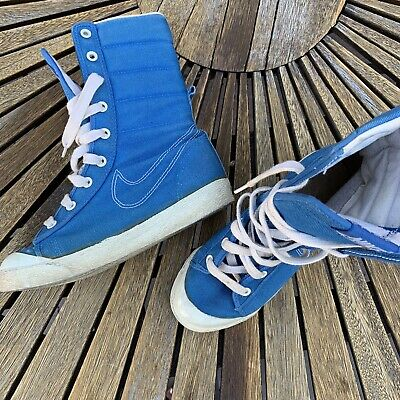 VINTAGE 80S NIKE Hi Top Shoes Team Convention Women's Size