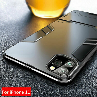 For iPhone 11 Pro XS Max XR X Shockproof Hard Armor Hybrid Stand Back Case Cover