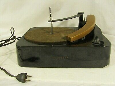 Vintage Columbia LP Model 104 Record Player Changer Phonograph Turntable