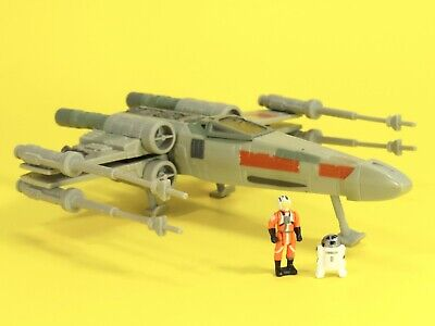 Micro Machines STAR WARS 1997 X-Wing Fighter Toy Collectible R2D2 & Luke EXC
