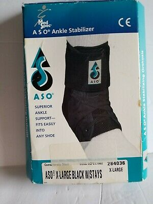 MedSpec ASO Ankle Brace with Plastic Stays Inserts Stabilizer Support Guard XL