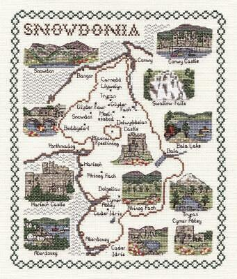 Map & Sights of Snowdonia - Classic 14ct Counted Cross Stitch Kit