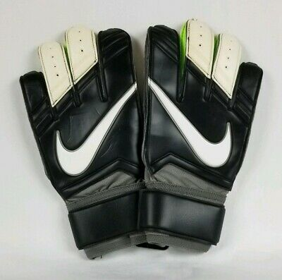 Nike Vapor Grip 3 Goalkeeper Soccer Gloves Sz 10.5 Black White PGS195-098 GK