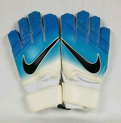Nike Vapor Grip 3 Soccer Goalkeeper Gloves Sz 9.5 Blue White PGS225-169 GK