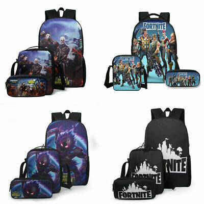 School Backpack Fortn Battle Royale Rucksack Lunch Bag Pencil Case 3Pcs Set AU