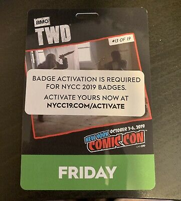 New York Comic Con FRIDAY Day Pass - NYCC 2019 Javits Center NYC Badge Ticket