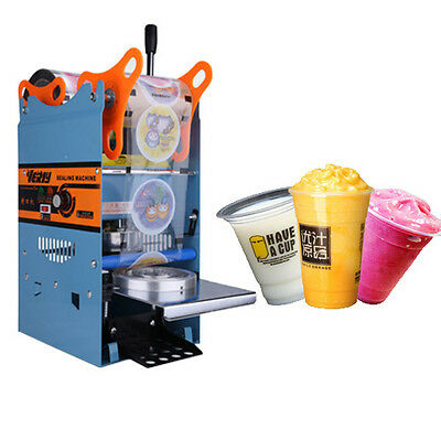 Semi-AUTO Milk Tea Sealing Machine Hand Pressure Sealer Bubble 300 Cups/hr 270W