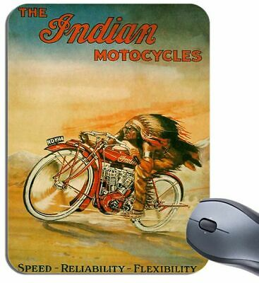 Logos 23x19cm #92220 Indian Motorcycle Bikes Retro Mauspad Mousepad