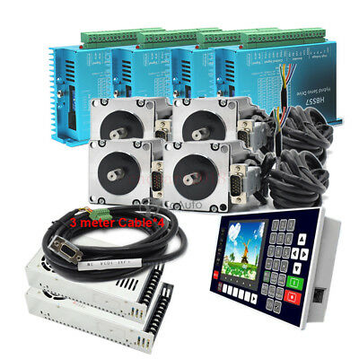 3NM 4Axis Closed Loop Stepper Motor Nema23 Servo Driver+Power Supply+ Controller