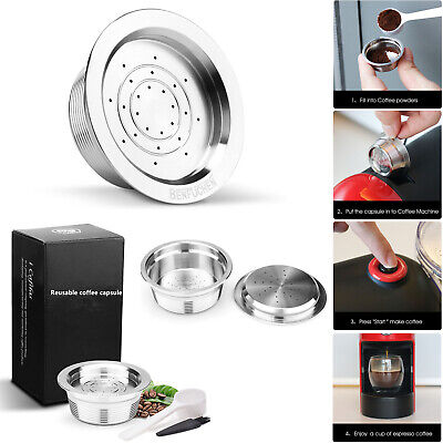 Stainless Steel Reusable Coffee Capsules For LAVAZZA A MODO MIO JOLIE / ESPRIA