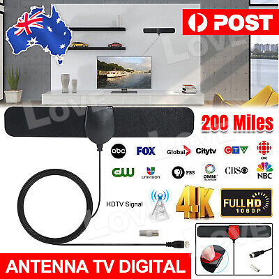 Antenna TV Digital HD 1080P Skywire 4K Antena Digital Indoor HDTV 200 Mile Range