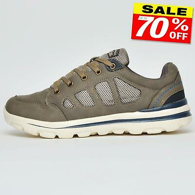 Walk Pro Adventure Men's Casual Comfy Memory Foam Shoes Trainers Taupe