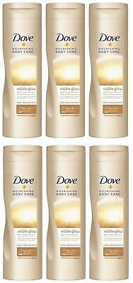Dove Nourishing Body Care Visible Glow Fair-Medium Self Tan Lotion 6 x 250mls