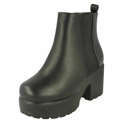 Girls Spot On Croc Patterned Slip On Boot With Chunky Sole