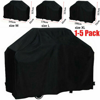 145 / 170CM Extra Large BBQ Cover Waterproof Garden Barbecue Grill Heavy Duty UK