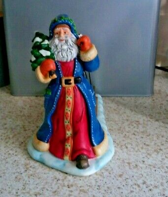 Partylite Candle Tealight Holder Father Christmas Santa Figurine Pulling Sleigh