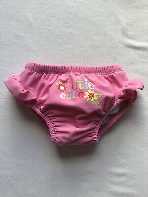 Girls Age 12-18 Months Swim Pants Mothercare Pink Nappy Pant Lined Design