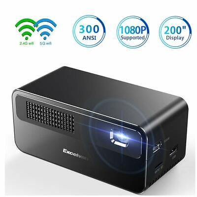 HD 4K DLP Projector Android Wifi Bluetooth 1080P 3D Home Theater Cinema HDMI USB
