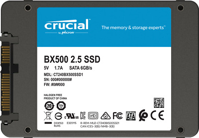 """Hard Disk Ssd 2,5"""" Stato Solido 120Gb Crucial Bx500 Ct120Bx500Ssd1"""