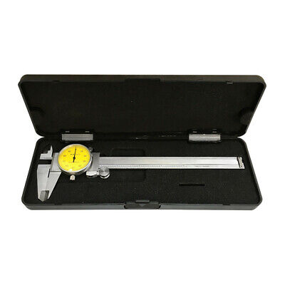 """YELLOW Face 0-6"""" stainless Steel 4 Way Dial Caliper Shock Proof .001"""" Graduation"""
