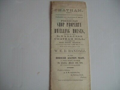 Auction particulars Chatham Kent 1904 Freehold shop property and dwelling houses