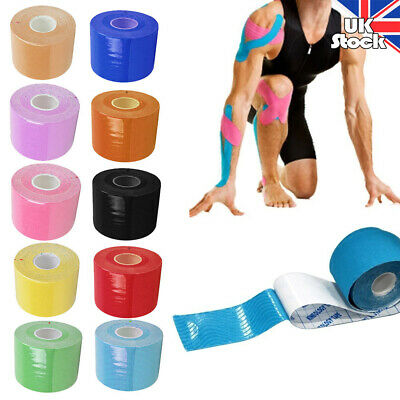 PhysioRoom Kinesiology Elastic Recovery Sports Tape Physio Knee Muscle Support