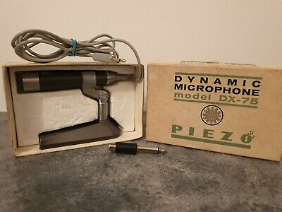 Vintage Piezo Dynamic Microphone Model DX-75 Made In Japan