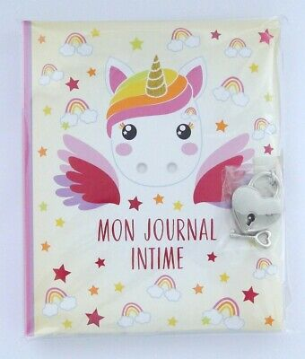 """Journal intime Licorne Candy Cloud Rainbow """"Mon journal intime"""""""