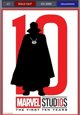 Topps MARVEL COLLECT Digital Card Doctor Strange First 10 Years Silhouette
