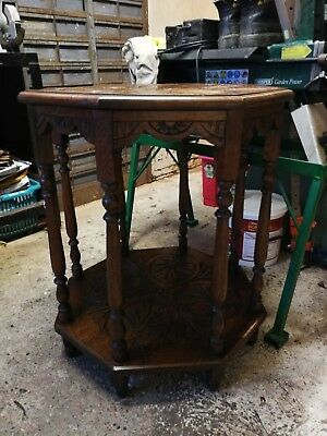 Antique Octaganol Hall/occasional Table.