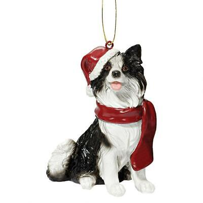 Large Border Collie Christmas Tree Decoration/Ornament Bauble Dog Present/Gift