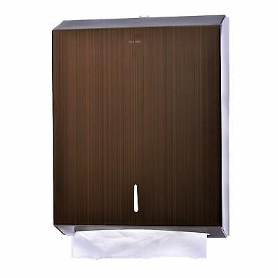 Alpine Industries Antique Copper Steel C-Fold Multi-fold Paper Towel Dispenser