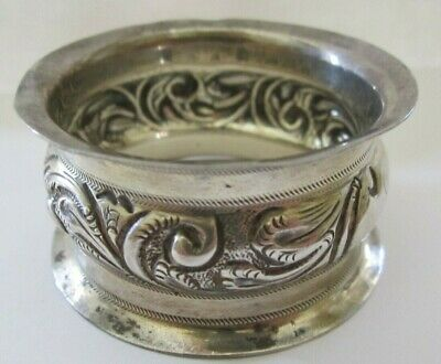 Antique Repousse Sterling Silver Napkin Ring Lot # 3 Of Collection ! See All