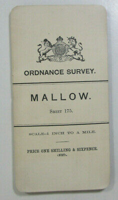 1899 Old OS Ordnance Survey Ireland One-Inch Second Edition Map 175 Mallow