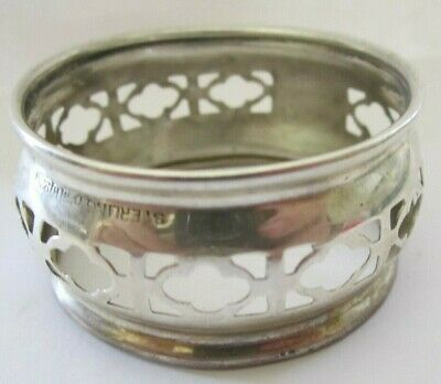Antique Open Pierced Sterling Silver Napkin Ring Lot # 4 Of Collection ! See All