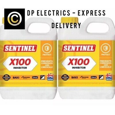 Sentinel X100 Central Heating Scale Inhibitor 1Ltr Pack of 2