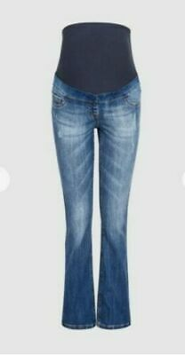NEXT Mid Blue Maternity Boot Cut Jeans 12R New with tags