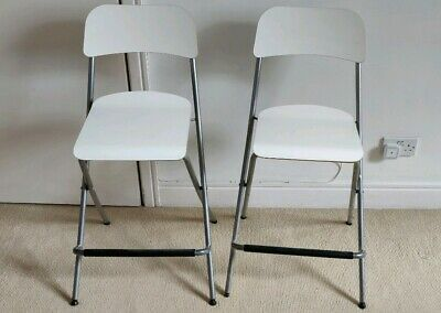Pleasant 2 Foldable Chairs Ikea Bar Stools With Backrest Franklin Ibusinesslaw Wood Chair Design Ideas Ibusinesslaworg