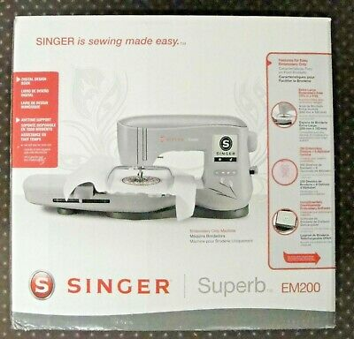 Singer Superb EM200 -- Embroidery Machine Brand New In The Box Free Shipping