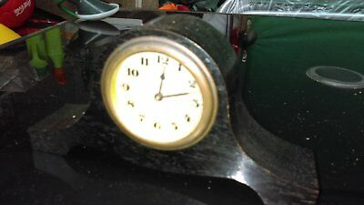 Antique Real Ebony German Desk Clock HAC Make