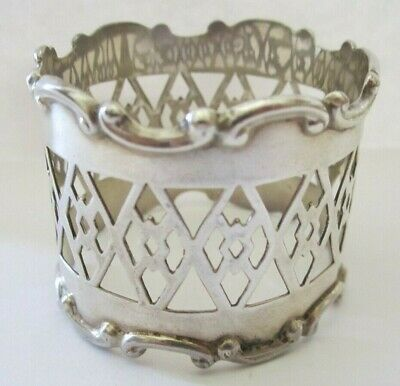 Antique Open Pierced Sterling Silver Napkin Ring Lot # 8 Of Collection ! See All