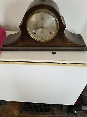 Antique Gilbert Tambour Mantle Clock