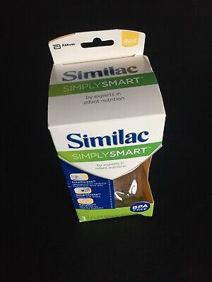NEW Similac Simply Smart 4 oz Baby Bottle - Level 1 Nipple - BPA Free