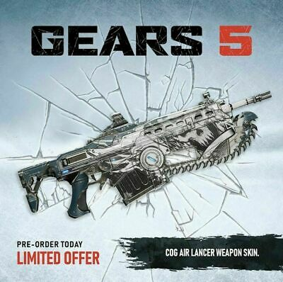 Gears 5 - Exclusive Cog Air Lancer Weapon skin DLC [Xbox One] Code  NO GAME