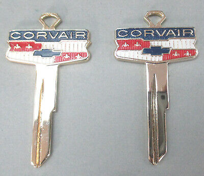 Rare Yellow Gold CORVAIR Crest Key Bowtie NOS Key B-10 1959 1960 1961 1962 1963