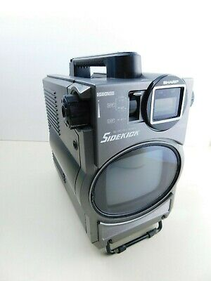 Vintage Sharp Portable Black & White Television TV Model 3T-52