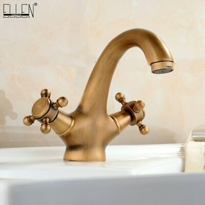 Antique Hot & Cold Water Crane 4 Different Colours Swan Faucet Bathroom Basin