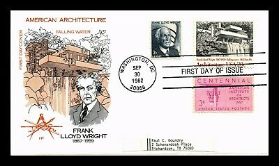 Dr Jim Stamps Us Falling Water Frank Lloyd Wright Farnum Combo Fdc Cover